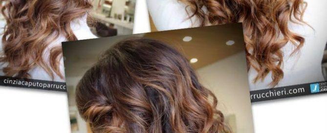 schiaritura capelli castani con Degradé Joelle - Cinzia Caputo parrucchieri foggia