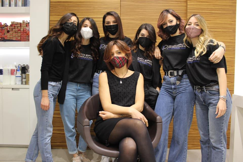 staff cinzia caputo parrucchieri Foggia - 2021 masks